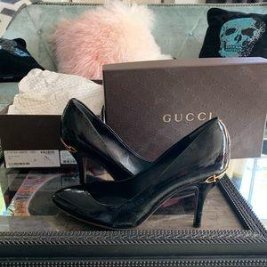 NWT Gucci Vernice Pump Patent Size 9